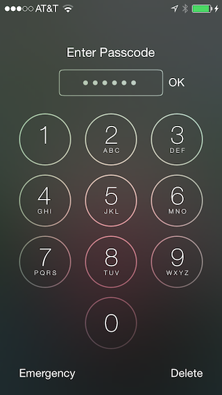 Lock screen with long numeric keyboard
